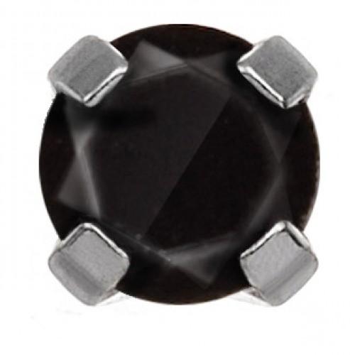 Cercel Studex System75 114 Black Cubic Zirconia 4 mm